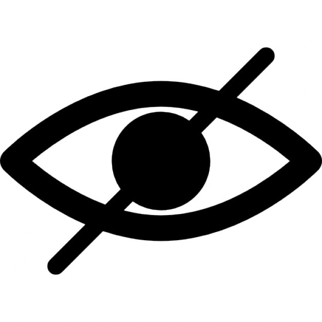 Blind symbol of an opened eye with a slash Icons | Free ...