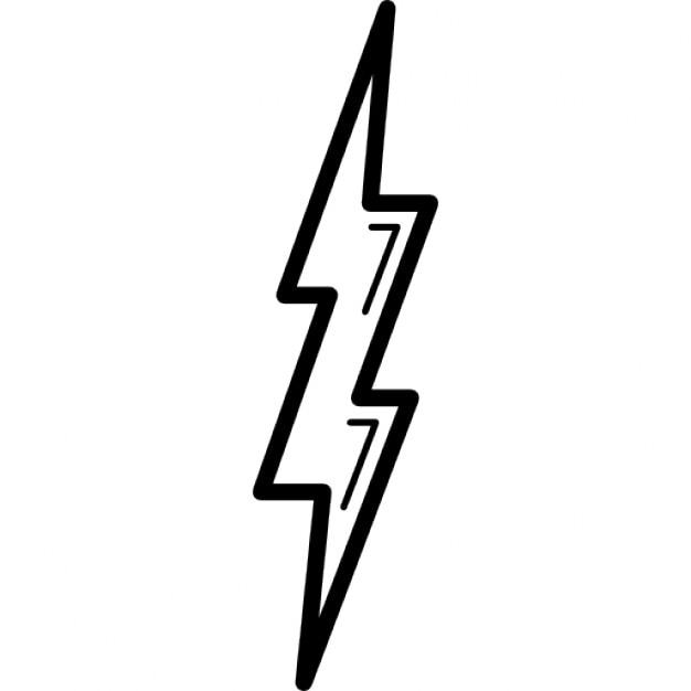 bolt shape outline symbol icons