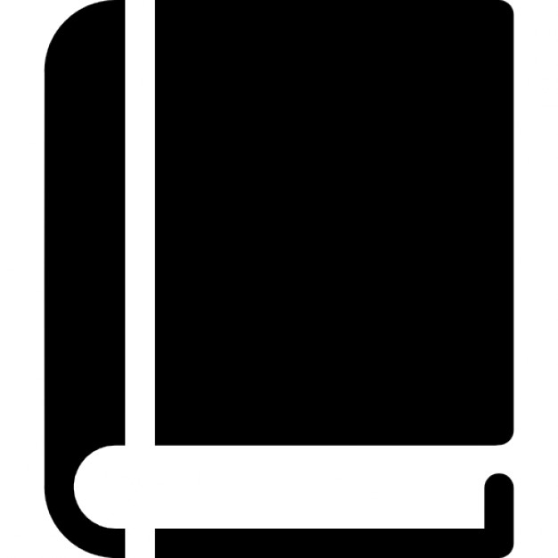 Book closed with black cover Icons | Free Download