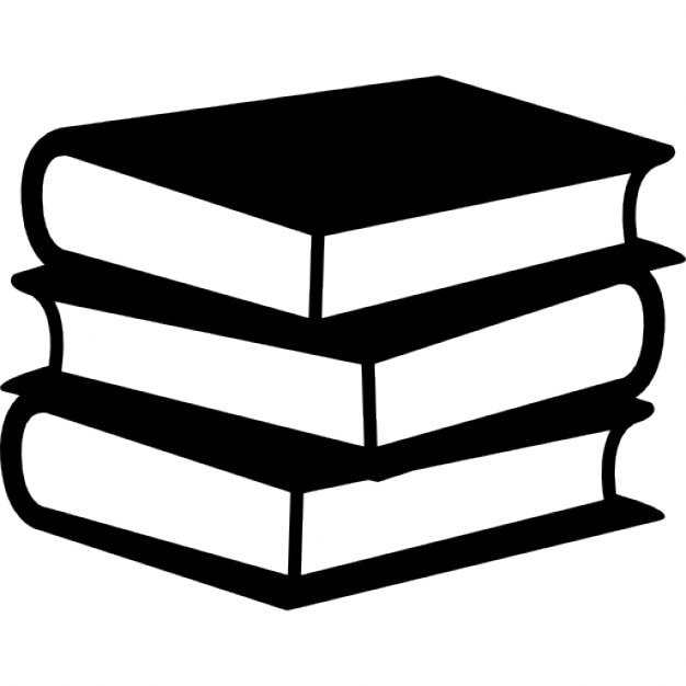 Books stack of three Free Icon