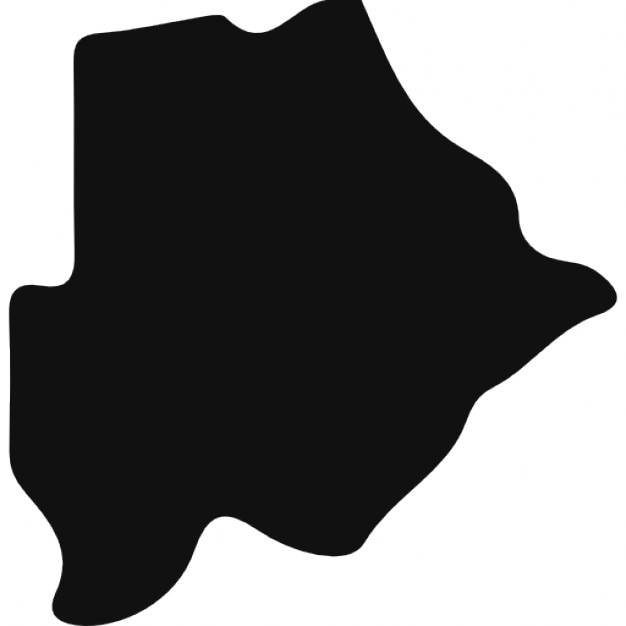 Botswana country map silhouette Icons Free Download