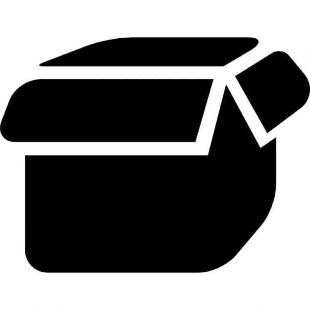 Box Open Black Shape Icons Free Download