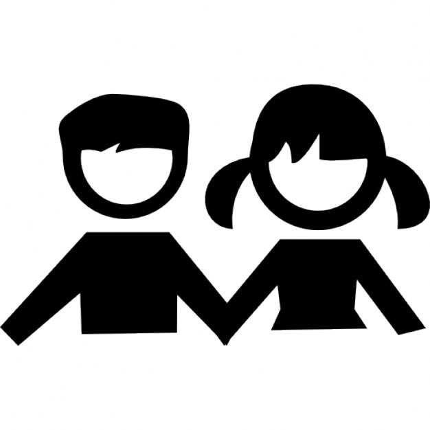 Boy And Girl Students Icons Free Download
