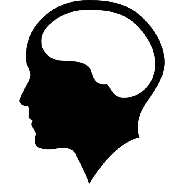 brain inside human head free icon
