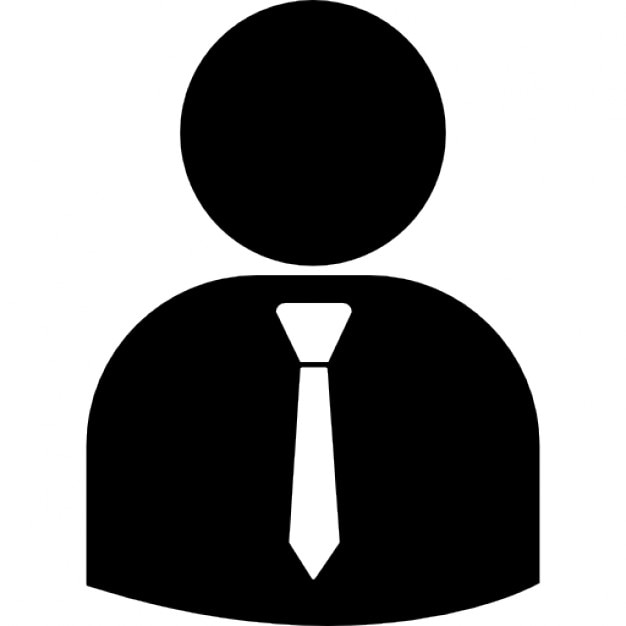 Business person silhouette wearing tie. People icons   3 800 free files in PNG  EPS  SVG format