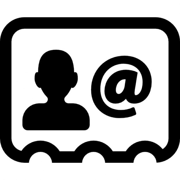 businessman card with contact email icons free download