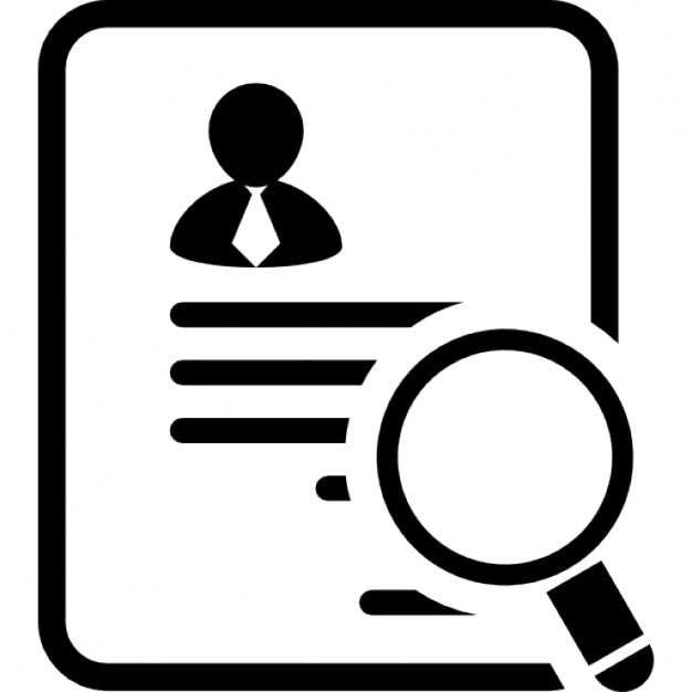 Businessman paper of the application for a job Icons ...