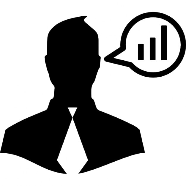 Businessman Talking About Data Analysis Icons Free Download