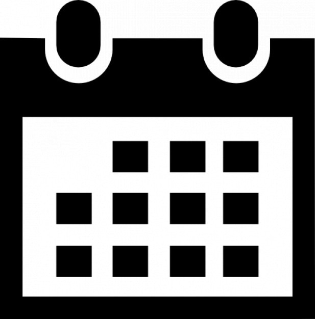 calendar icon in black icons