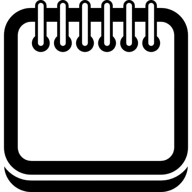 Calendar Border Clip Art : Calendar square page outline with spring on top border