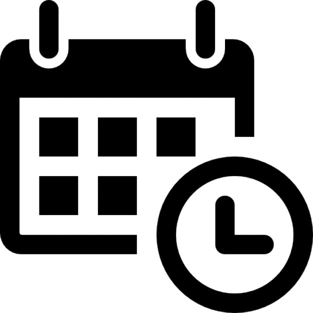 Calendar With A Clock Time Tools Icons Free Download