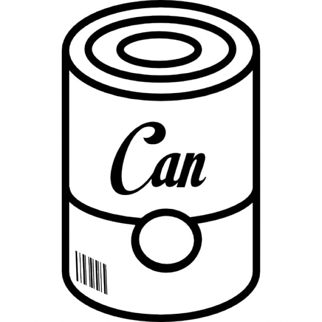 Can of food with barcode icons free download for Food barcode