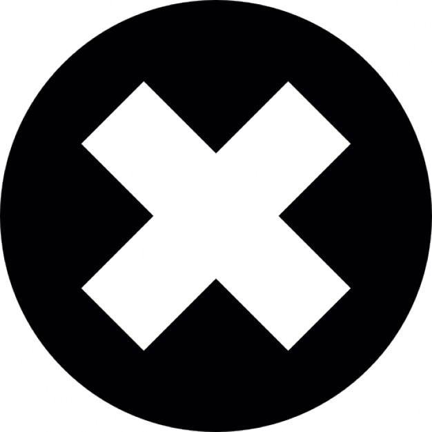Cancel Or Close Cross Inside A Circle Icons Free Download
