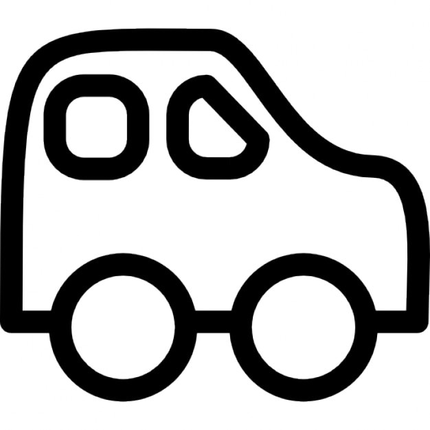 Car Baby Toy Outline Icons Free Download