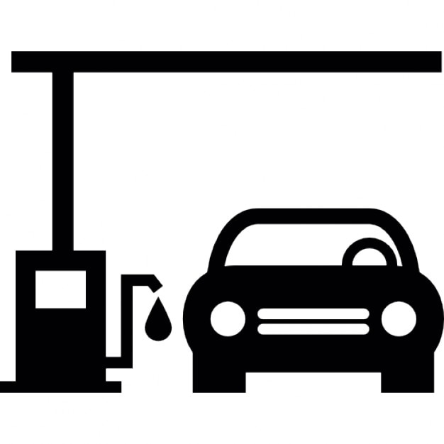 Car In A Gas Station Icons Free Download