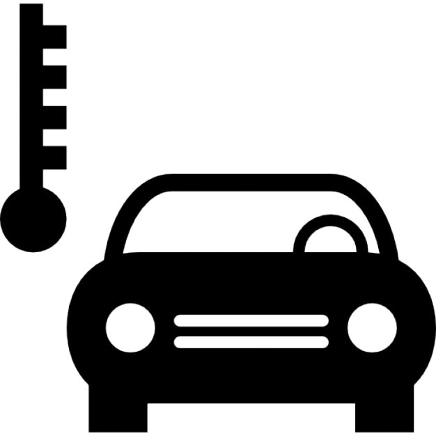 car temperature symbol icons