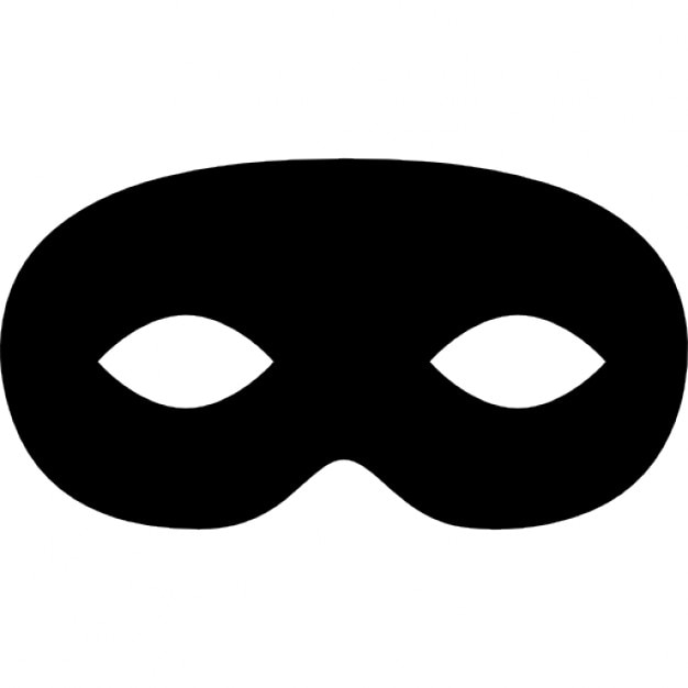 Carnival Mask Black Rounded Shape Free Icon