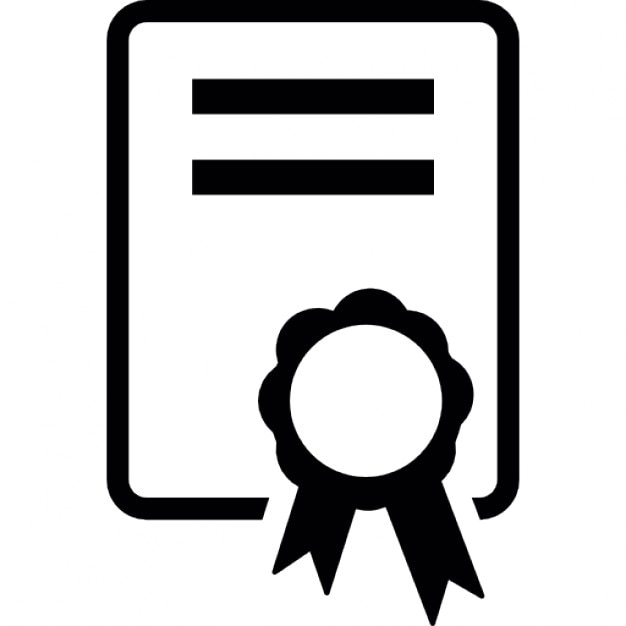 Certificate, IOS 7 interface symbol Icons | Free Download
