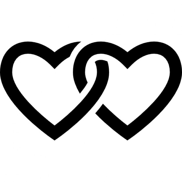 Chained Heart Outline Icons Free Download