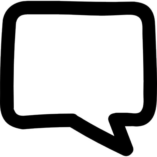 chat bubble hand drawn outline icons free download