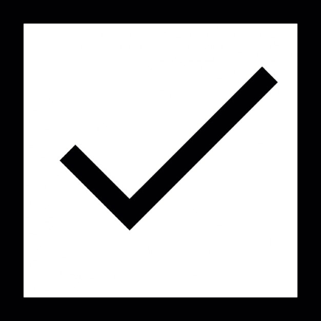 Check Mark Inside A Square Outline Box Icons Free Download
