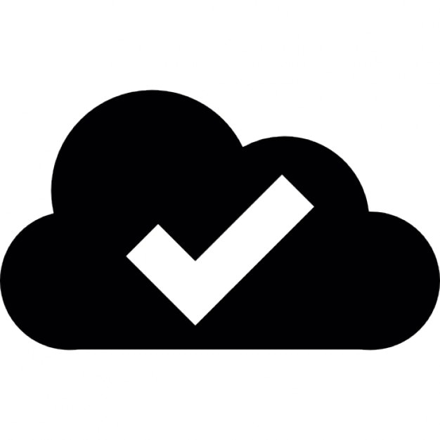 Check Symbol Inside A Cloud Icons Free Download