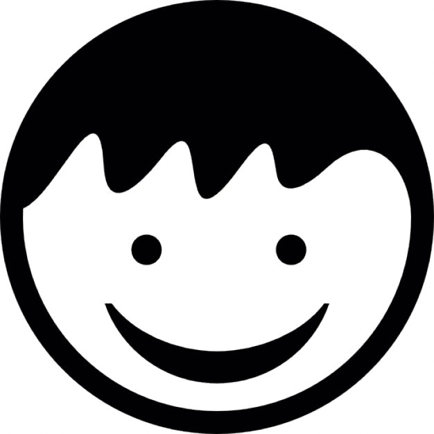 Happy Face Silhouette Child head with smiling face icons free download