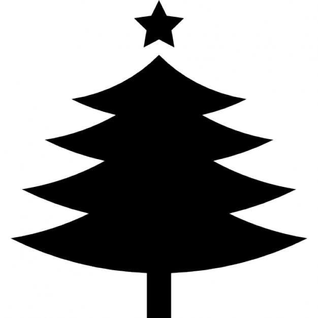 Christmas Tree Shape With A Fivepointed Star On Top Free Icon