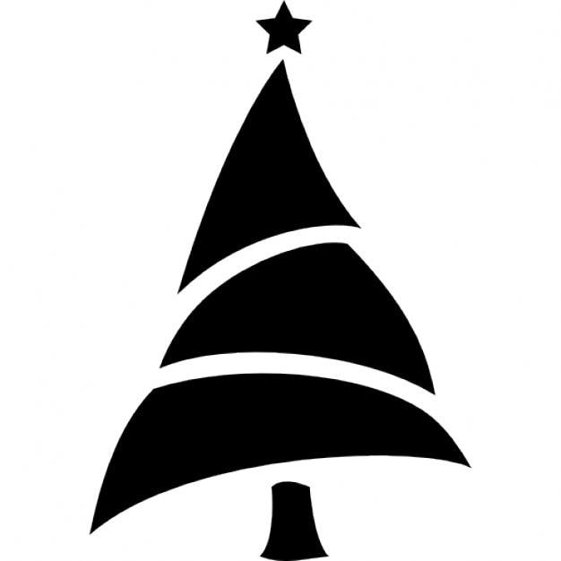 Christmas tree silhouette icons free download