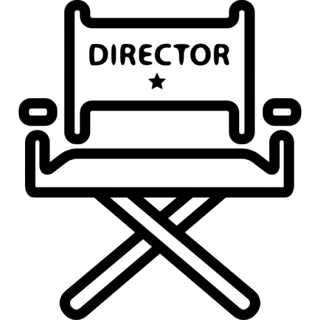 cinema director chair icons free download