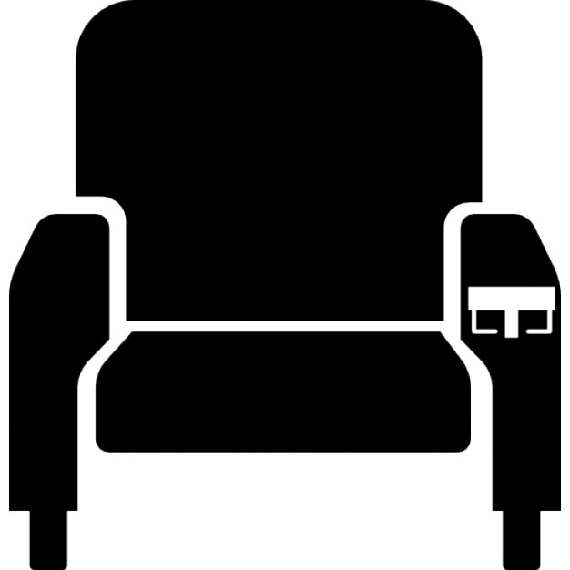 Cinema seat silhouette Icons | Free Download
