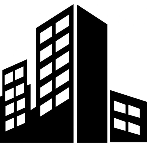 City buildings silhouette Icons | Free Download