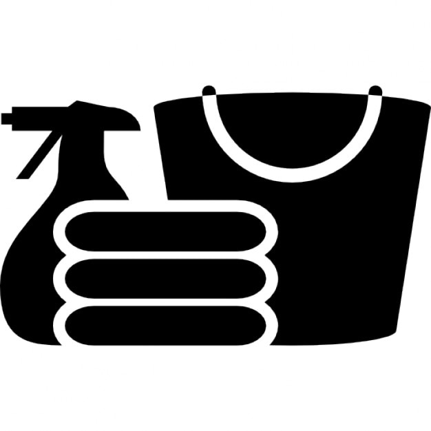 Cleaning materials silhouette Icons | Free Download