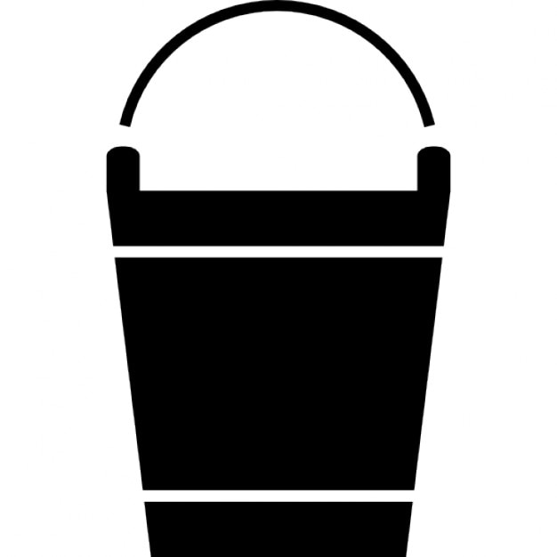 cleaning pail for water icons free download