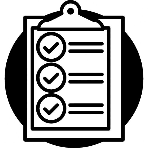 clipboard with check list free icon