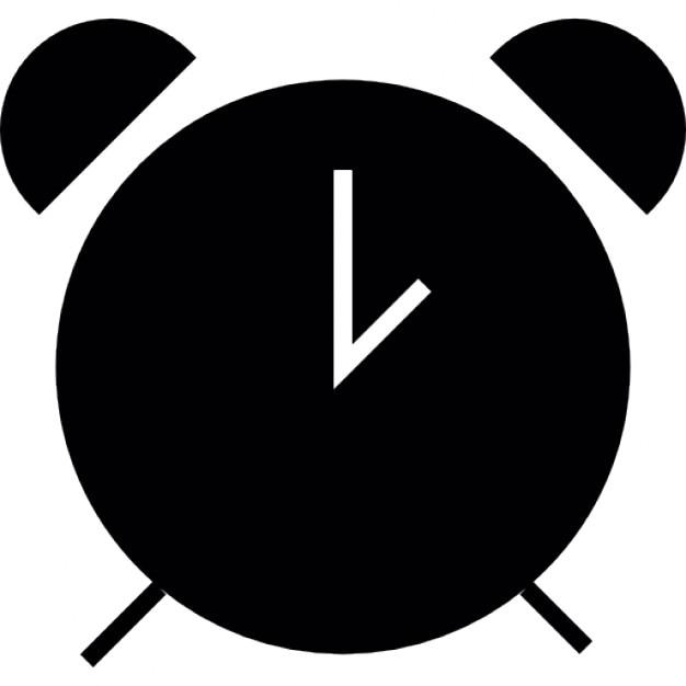 Clock alarm, IOS 7 interface symbol Icons | Free Download