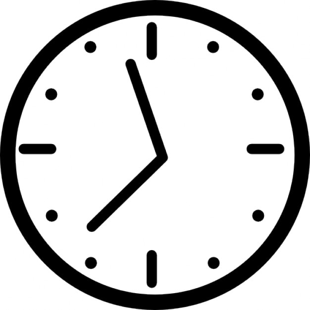 Clock For Wall With Hours Icons Free Download
