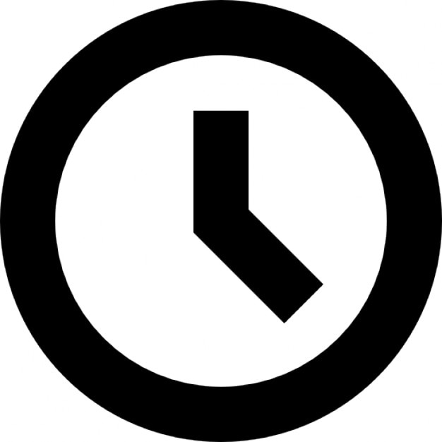 Clock Thick Outline Symbol Icons Free Download
