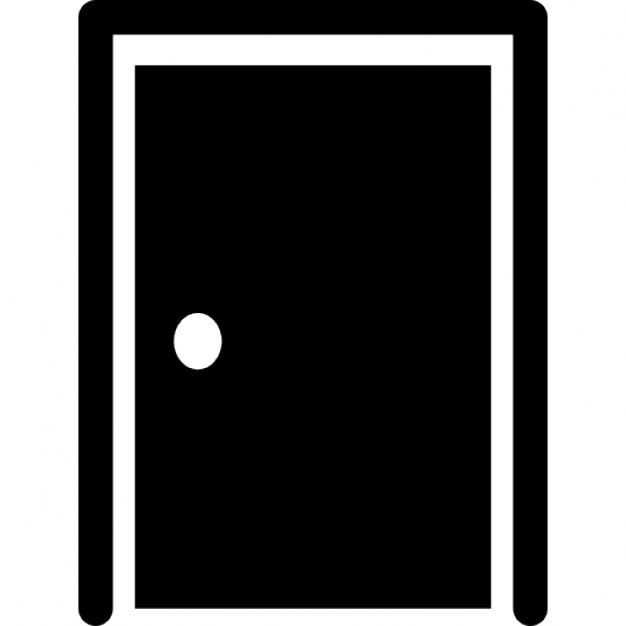 Closed door with border silhouette Free Icon  sc 1 st  Freepik & Closed door with border silhouette Icons | Free Download