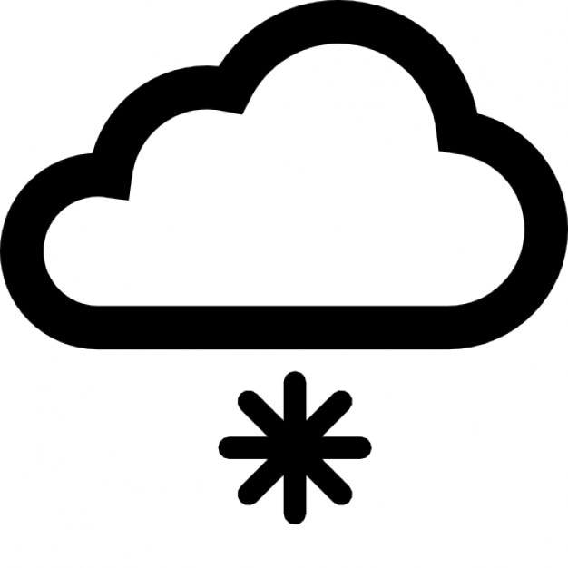 Cloud And An Asterisk For Snowing Symbol Icons Free Download
