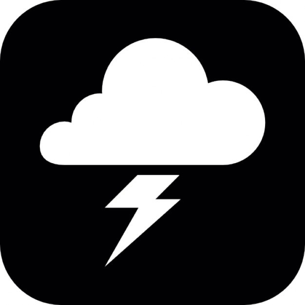 Cloud And Lightning Bolt Symbol Icons Free Download