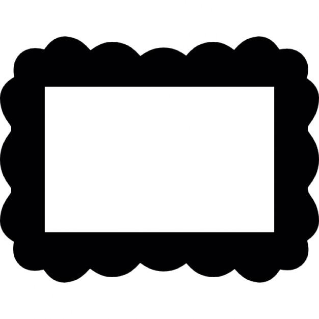 cloud border frame free icon