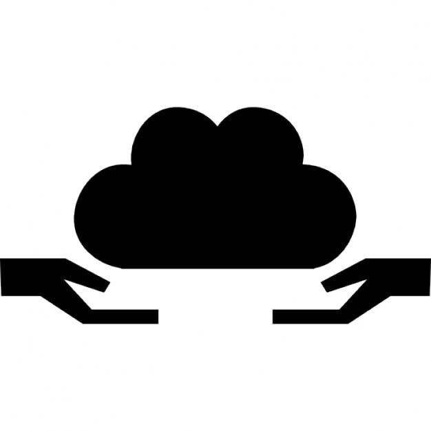 Cloud Give Symbol With Two Hands Receiving Icons Free Download