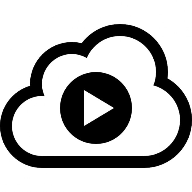 Cloud Video Play Symbol Icons Free Download