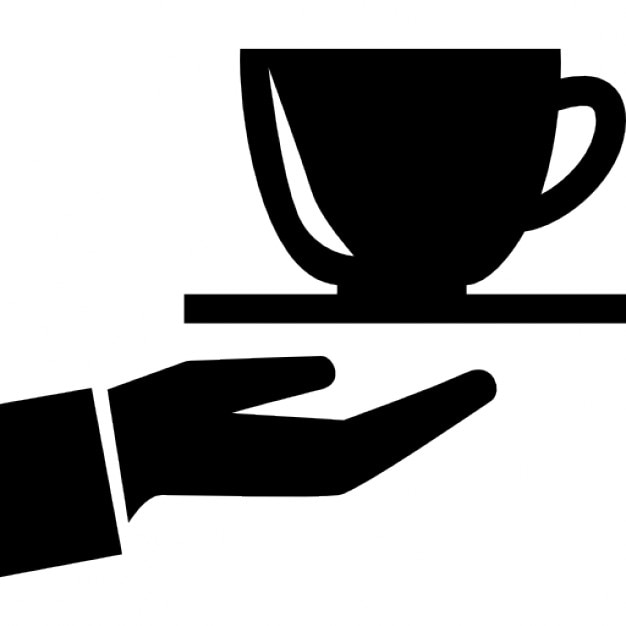 coffee cup on a hand icons free download