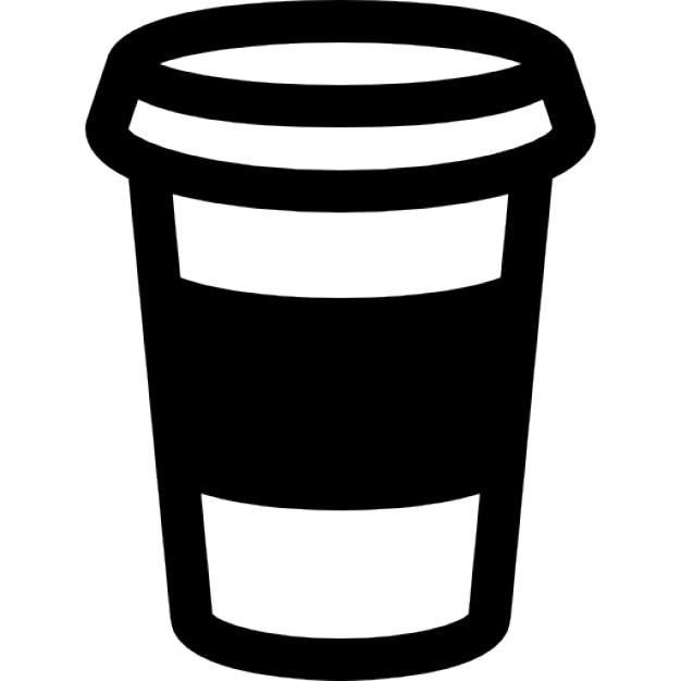 coffee cup outline icons free download rh freepik com Go to Starbucks Coffee Cup Clip Art Paper Coffee Cup Clip Art