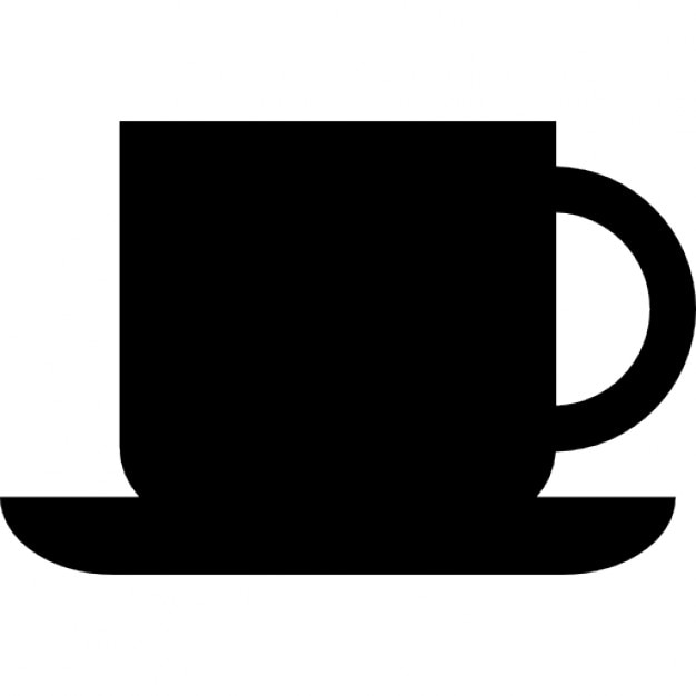 Coffee cup silhouette Icons | Free Download