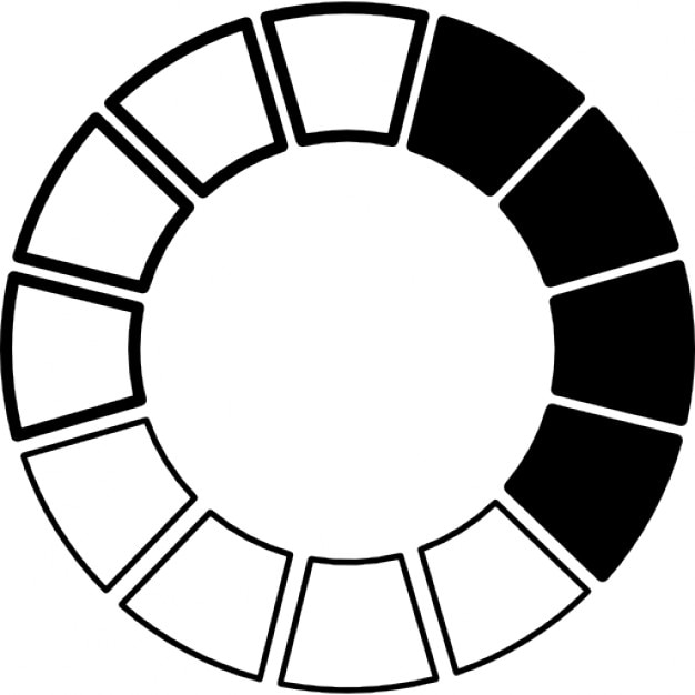 Color Wheel Black And White Icons Free Download