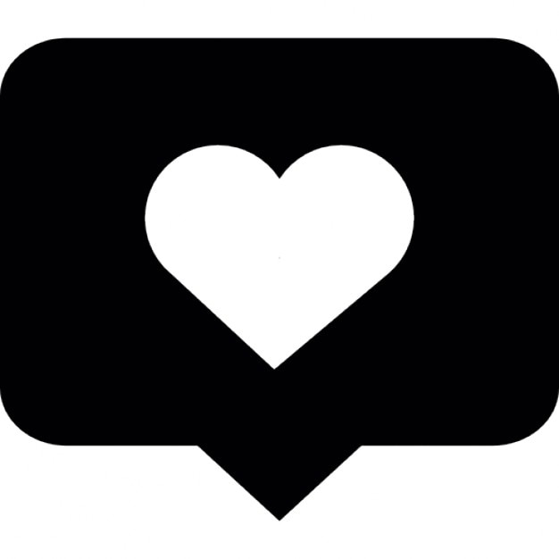 Comment bubble with a heart Icons | Free Download