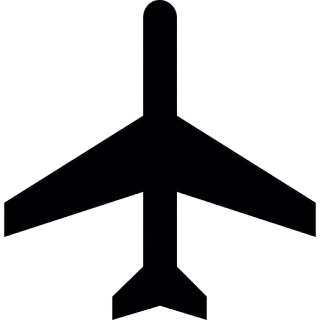 Commercial aeroplane bottom view Free Icon
